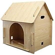 BTPDIAN Casa de Perro Perrera Interior casa de Perro de Madera Desmontable Jaula de Perro Mascota