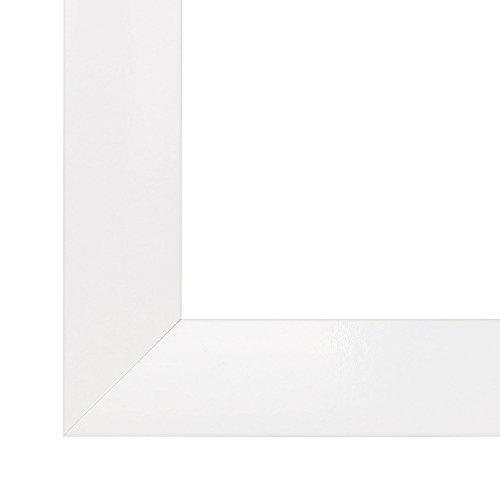 Olimp cornice, cornici dei quadri, portafoto, 45x60 cm o 60x45 cm in bianco, normale vetro artificiale (a-pet), senza antiriflesso cornice in mdf rivestiti di un foglio decorativo, 35 mm di larghezza
