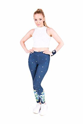 Kukubird Verschiedene Einhorn Flamingo Emoji Patterns Frauen Gym Fitness Leggings Running Yoga Pilates Skinny Hosen Strumpfhosen Größe 8 bis 12 Stretchable Lazy Koala