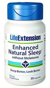 Life Extension Enhanced Natural Sleep without Melatonin Capsules, 30 Count by Life Extension (Enhanced Natural)