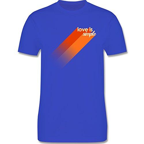 Romantisch - Love is simple - Herren Premium T-Shirt Royalblau