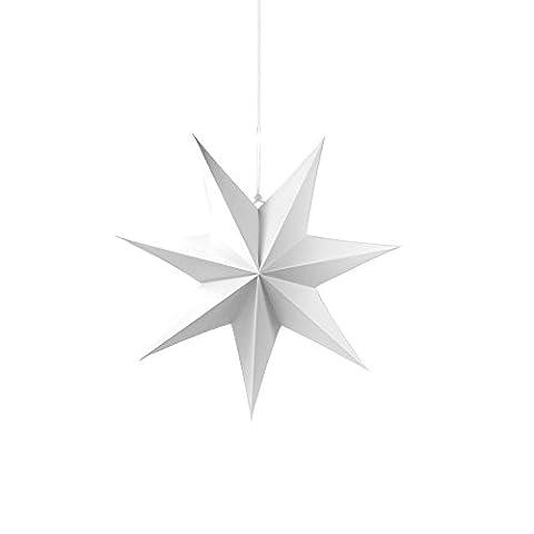 9 Frau Wundervoll Faltsterne matt weiß, 25 cm, 7 Zacken Weihnachtsstern Papiersterne