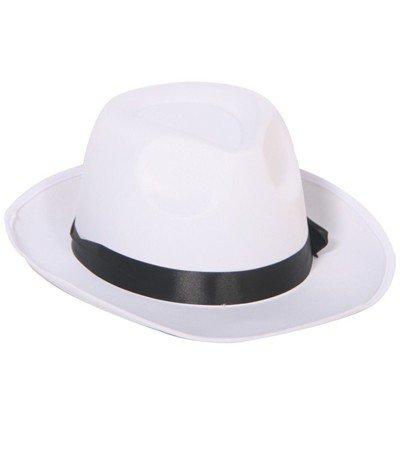Hut Gangster Mafioso Weiß Creme Capone Hochzeit Blues Hat White Gentleman (Hut Ganster)