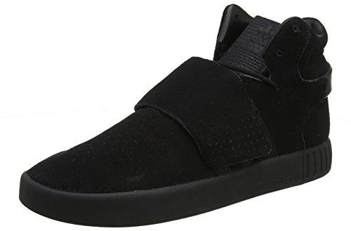 adidas Unisex-Erwachsene Tubular Invader Strap Sneaker, Schwarz (schwarz schwarz), 45 1/3 - Adidas Strap Tubular