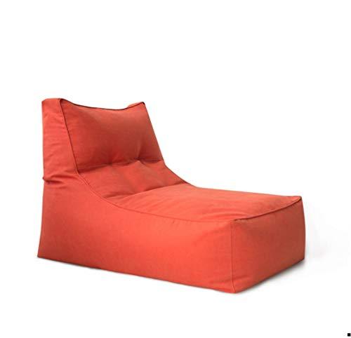 Classic Sitzsack for Jugendliche Kleines Sofa Abnehmbar Und Waschbar (Color : Orange, Size : No footstools)