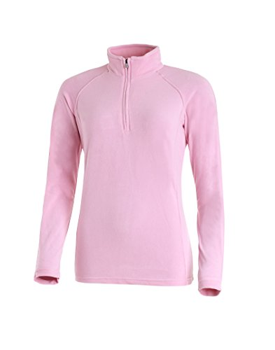 Medico Damen Ski Shirt, 40, prism pink, Pink, 100% Polyester, Fleece, langarm, Reißverschluss