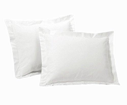 SRP biancheria di cotone egiziano euro/sicura/negli/europei (66,04 cm x 66,04 cm) super morbido 2 pezzi federe bianco tinta unita---400 conteggi del filetto