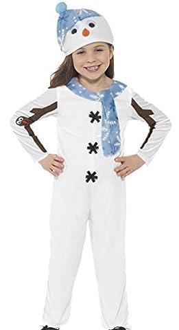 erdbeerloft - Unisex - Kinder Karneval Schneemann Kostüm , Weiß, Größe 104-116, 4-6 Jahre (Gruppe Von Vier Kostüme)