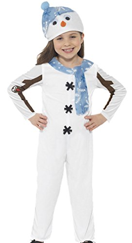 erdbeerloft - Unisex - Kinder Karneval Schneemann Kostüm , Weiß, Größe 104-116, 4-6 (Kostüme Pudel Für Rock Kinder)