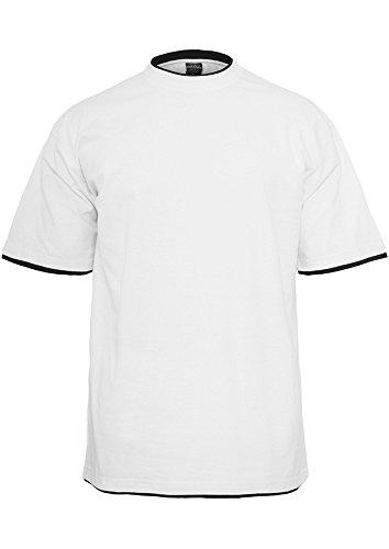 TB029A Contrast Tall Tee T-Shirt Wht/Blk