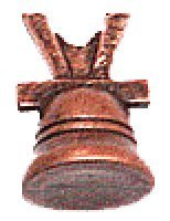 Domus Kits 3700, set 3 campanas cobre miniatura
