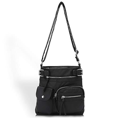 Angelkiss Damen Umhängetaschen Weiches Leder Henkeltaschen Handtasche Geldbörse Crossover Taschen für Mädchen oder Frauen