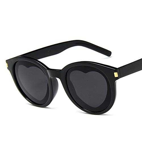 GBST Fashion Heart Sunglasses Women Meatl Hinge Love Shape Round Sun Glasses Men Vintage Couple Eyeglasses Pink Yellow,A6