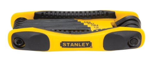 STANLEY Tools STHT71800 8-Piece Folding Metric Hex Key Set