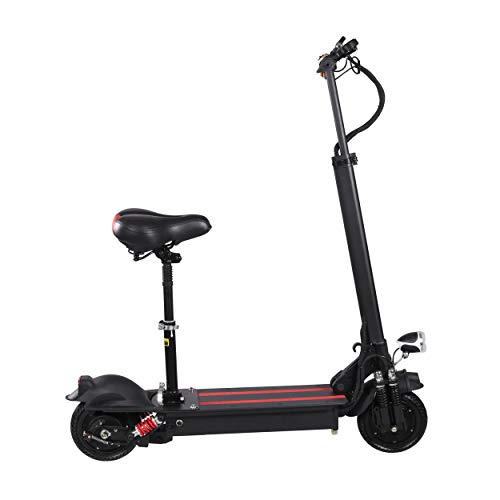 XULONG Elektrische Roller Adult Faltbar, 200 kg Max Load mit Seat 10 Zoll 50km/H, Lithium Battery 48V 23AH, 1000W Rear Wheel Single Motor Drive mit LED-Licht und HD Display,100km Range