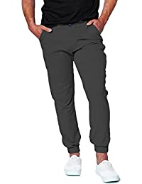oiin Damler Cotton Chinos Men's Slim Fit Stretch Jogger Pant Latest Trend 2018