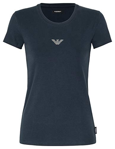Emporio Armani Woman T-Shirt Rundhals Blazershirt Unterziehshirt Armani Eagle Schmucklogo L Marine (00135)