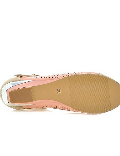 ZQ Scarpe Donna - Mocassini - Casual - Zeppe - Zeppa - Finta pelle - Blu / Rosa / Bianco , pink-us8.5 / eu39 / uk6.5 / cn40 , pink-us8.5 / eu39 / uk6.5 / cn40 blue-us5.5 / eu36 / uk3.5 / cn35