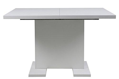 PKline Esstisch 120/160x80 cm weiß