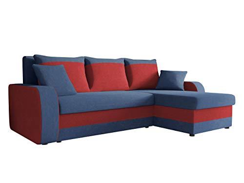 Mirjan24  Ecksofa Kristofer, Design Eckcouch Couch! mit Schlaffunktion, Zwei Bettkasten, Farbauswahl, Wohnlandschaft! Bettfunktion! L-Form Sofa! Seite Universal!