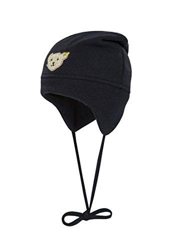 Steiff Unisex - Baby Mütze 0006865, Einfarbig, Gr. Large (Herstellergröße: 49), Blau Marine (Baby-fleece-mütze Fleece)