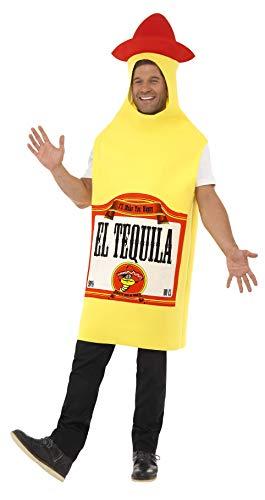 Smiffys Herren Tequila Flasche Kostüm, Tunika, Größe: M, - Tequila Kostüm