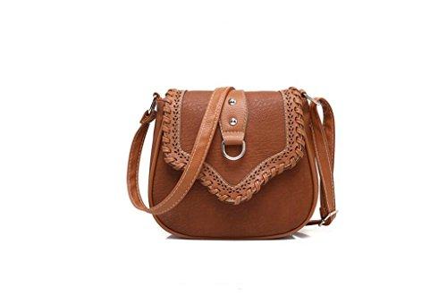 Borsa Minimalista spalla, borse da donna, eolici di piccola profumata borse casual, pacchetto diagonale della moda Dark khaki