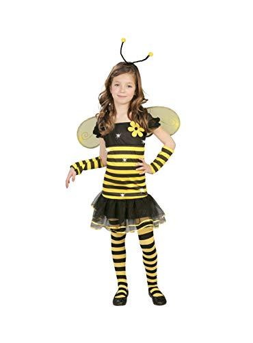 Biene - Kostüm für Kinder Gr. 110 - 146, (Honig Biene Kostüm Kind)