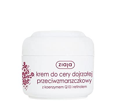 ZIAJA FACE CREAM FOR MATURE SKIN ANTI WRINKLE WITH Q10 AND RETINOL 00979 50ml