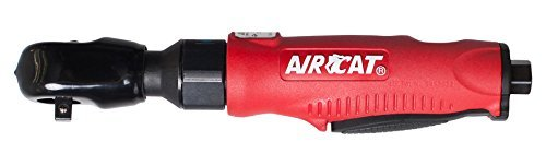 AIRCAT 802-5 1/2 Composite Quiet Ratchet, Red & Black, Compact by AirCat - Aircat 1/2