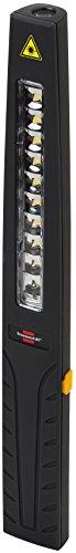 Brennenstuhl LED Taschenlampe mit Akku / Mini Stableuchte mit 10 hellen SMD-LED (3 Stunden Leuchtdauer, inkl Netzteil und Ladekabel) Farbe: schwarz
