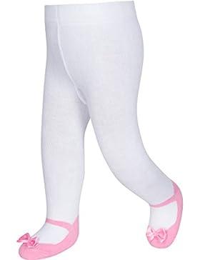 Baby Emporio - Calzamaglia versione festa per neonata - look scarpa Mary Jane - antiscivolo con fiocco in satin...