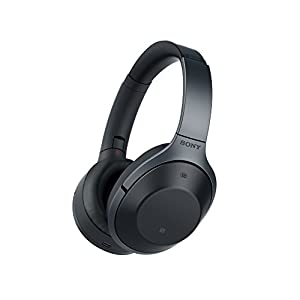 Sony MDR-1000X Wireless Bluetooth Noise Cancelling Ambient Sound Touch Sensor High Resolution Audio Headphones - Black