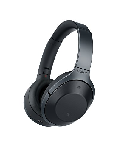 Sony MDR-1000X Cuffie Bluetooth a eliminazione del rumore, Hi-Res Audio, Driver HD da 40mm, Nero