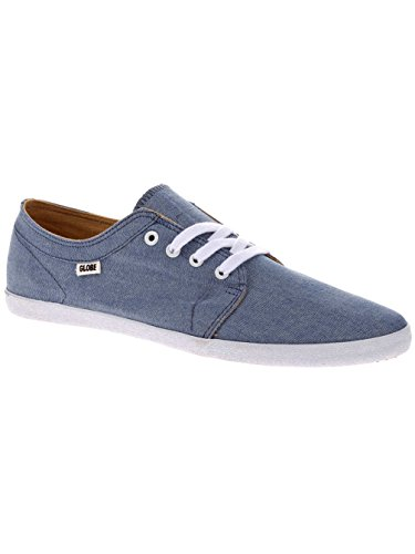 Baskets Hommes Globe Rouge Belly bleu chambray