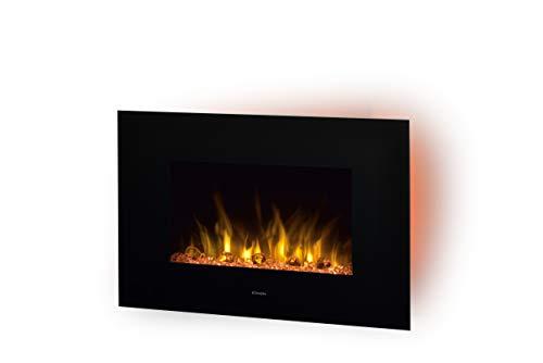 DIMPLEX Toluca de Luxe Wall-mountable Fireplace Eléctrico Negro Interior - Chimenea 230 V, 50 Hz...