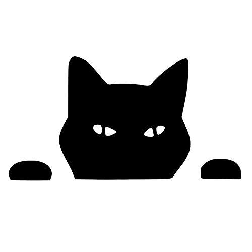 Zyunran Auto-Aufkleber Autoaufkleber außenhandel Fenster Klettern und beobachten Katze Tiere lustige persönlichkeit reflektierende autoaufkleberschwarz Merchandiseprodukte Aufkleber (Beobachten Klettern)