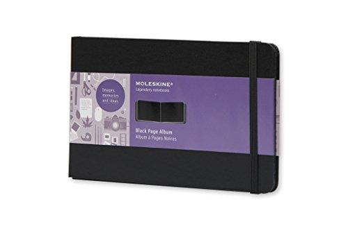 Moleskine FO1A3 Album mit schwarzen Seiten Large, Hardcover schwarz