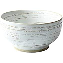 Yinuo 7 pouces en céramique visage Creative glaçure peinte à la main Bowl Big Bowl Saladier Soup Bowl style japonais et le vent Ramen Bowl instantané Noodle Bowl (Color : A)