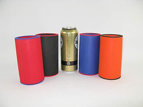 asiahouse24 4er Set Bunt Getränkekühler 0,5l Dosenkühler - Bierkühler - Neoprenkühler - passgenau ~Dosenkühler~ für alle genormten 0,5l Bierdosen aus hochwertigen 5-6mm starken Neopren
