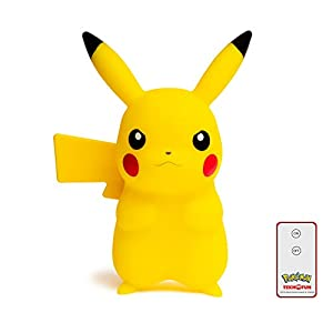 Teknofun Pikachu Lampara Led 25 cm + Control Remoto Pokemon, Color Amarillo (TKFPO811372)