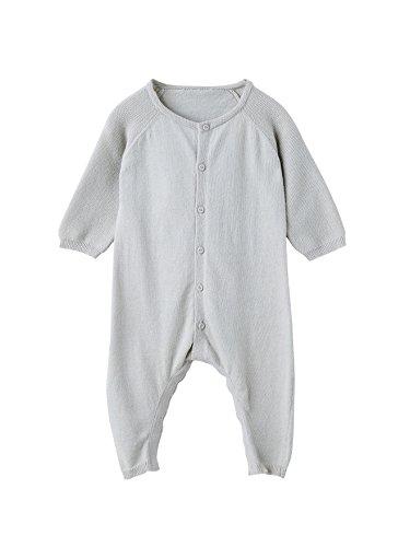VERTBAUDET Combinaison tricot bébé Bio Collection Gris pâle 12M - 74CM
