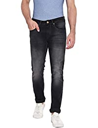 RUF & TUF Solid Black Coloured Slim Fit Jeans