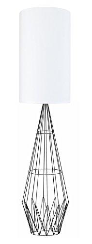 Tosel 51242 Lampadaire 1 Lumière, Acier, E27, 40 W, Blanc, 30 x 165 cm