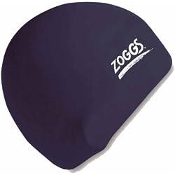 Zoggs - gorro de natación de silicona, Unisex adulto, Silicone Cap, negro, talla única