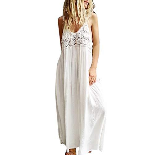 Longra donna vestito lunghe senza schienale scollo a v vestito lungo donna elegante senza maniche maxi abito da sera donne lunga vestito da cocktail da sera elegante abito lungo in pizzo