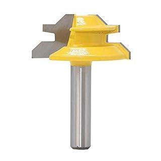 Meccion 45° Gehrungsfräser mit 8 mm Schaft Wolframcarbid Spitzen Fräser Professionelle Holzbearbeitungswerkzeuge, gelb