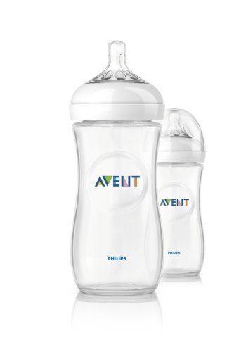 Philips Avent SCF696/27 - Pack de 2 biberones, tetina suave y flexible, anticólicos, PP 0% BPA, 330 ml, color transparente
