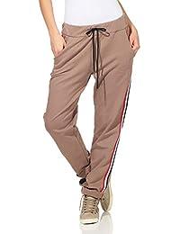 ZARMEXX Pantaloni da Donna in Cotone Pantaloni Sportivi con Strisce a  Contrasto 85425 all Interno di Morbidi… 532e6e15919d