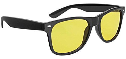 Wedo 27147099 Nachtsichtbrille für Autofahrer, getönte polarisierende Gläser, gemäß ISO Norm, Hülle und Gebrauchsanleitung, schwarz/gelb